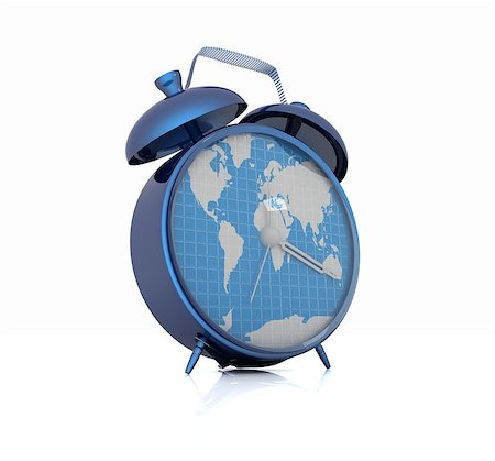 Clock of world map Stock Photo - Budget Royalty-Free & Subscription, Code: 400-07977472