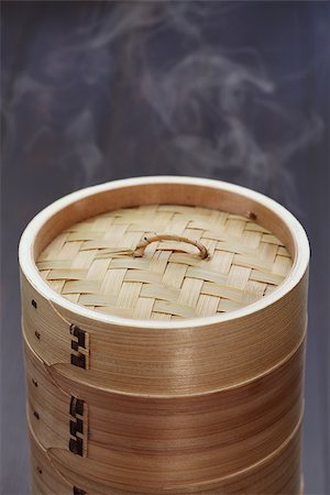 dumplings steamer - yum cha, dim sum, chinese food in bamboo steamer, unknown contents Stock Photo - Budget Royalty-Free & Subscription, Code: 400-07978735