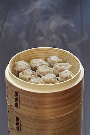 dumplings steamer - shu mai, shao mai, chinese food in bamboo steamer Stock Photo - Budget Royalty-Free & Subscription, Code: 400-07978736