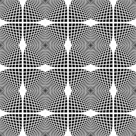simsearch:400-04476890,k - Design seamless monochrome geometric pattern. Abstract textured background. Vector art. No gradient Stock Photo - Budget Royalty-Free & Subscription, Code: 400-07984500