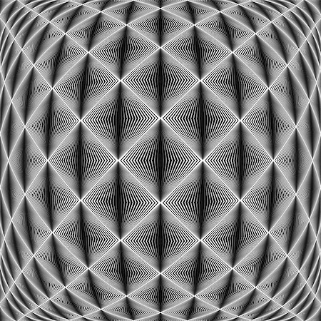 simsearch:400-04476890,k - Design seamless diamond trellised pattern. Abstract geometric monochrome background. Convex texture. Vector art. No gradient Stock Photo - Budget Royalty-Free & Subscription, Code: 400-07984549