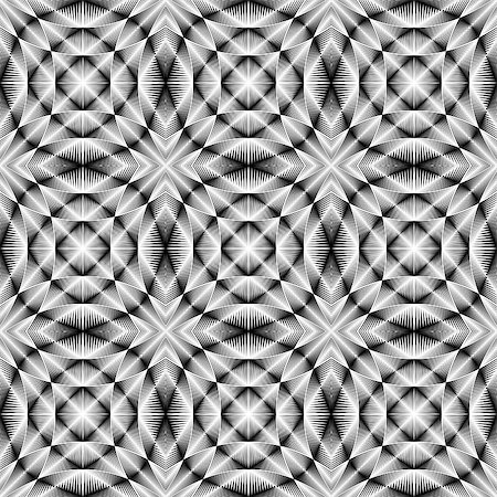 simsearch:400-04476890,k - Design seamless trellised pattern. Abstract geometric monochrome background. Vector art. No gradient Stock Photo - Budget Royalty-Free & Subscription, Code: 400-07988793