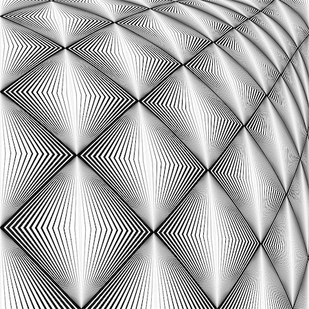 simsearch:400-04476890,k - Design diamond convex texture. Abstract geometric monochrome perspective background. Vector art. No gradient Stock Photo - Budget Royalty-Free & Subscription, Code: 400-07988839