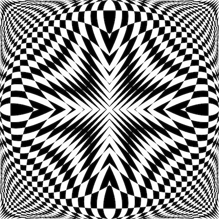simsearch:400-04476890,k - Design monochrome illusion checkered background. Abstract torsion backdrop. Vector-art illustration Stock Photo - Budget Royalty-Free & Subscription, Code: 400-07988831