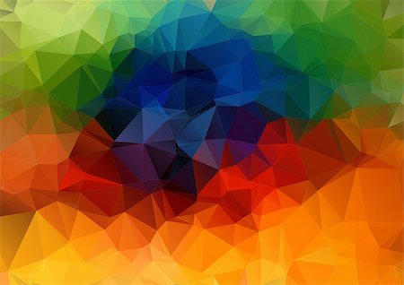 Abstract 2D geometric colorful background Stock Photo - Budget Royalty-Free & Subscription, Code: 400-07989190