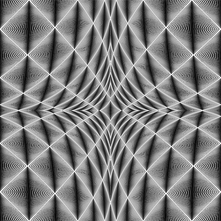simsearch:400-04476890,k - Design diamond concave texture. Abstract geometric monochrome perspective background. Vector art. No gradient Stock Photo - Budget Royalty-Free & Subscription, Code: 400-07989699