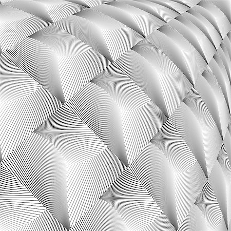 simsearch:400-04476890,k - Design diamond convex texture. Abstract geometric monochrome perspective background. Vector art. No gradient Stock Photo - Budget Royalty-Free & Subscription, Code: 400-07989753
