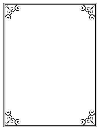 pzromashka (artist) - vector black ornate frame on a white background Stock Photo - Budget Royalty-Free & Subscription, Code: 400-07989842