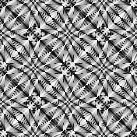 simsearch:400-04476890,k - Design seamless geometric trellised pattern. Abstract monochrome background. Vector art. No gradient Stock Photo - Budget Royalty-Free & Subscription, Code: 400-07980929