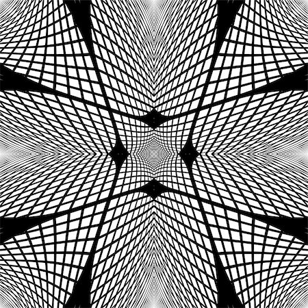 simsearch:400-04476890,k - Design monochrome grid geometric background. Abstract textured backdrop. Vector art. No gradient Stock Photo - Budget Royalty-Free & Subscription, Code: 400-07982018