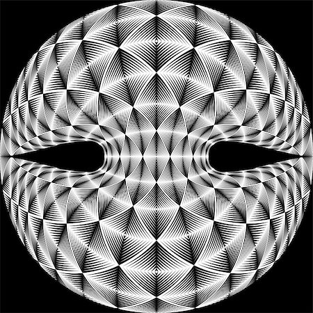 simsearch:400-04476890,k - Design warped diamond trellised backdrop. Abstract geometric monochrome element. Vector art. No gradient Stock Photo - Budget Royalty-Free & Subscription, Code: 400-07982033