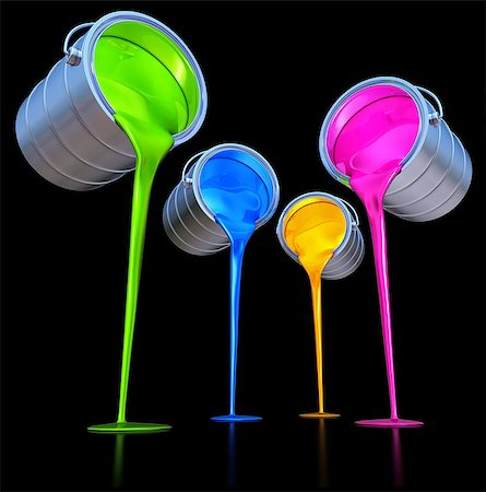 pouring paint art - 3D rendering of a color concept Stock Photo - Budget Royalty-Free & Subscription, Code: 400-07994549