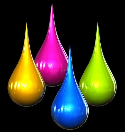 paint dripping graphic - 3D rendering of color drops Stock Photo - Budget Royalty-Free & Subscription, Code: 400-07995475