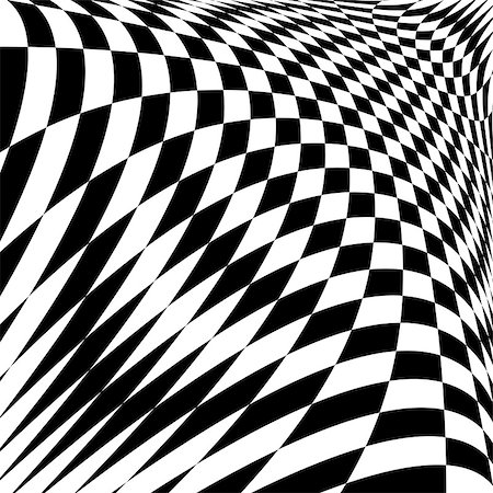 simsearch:400-04476890,k - Design monochrome illusion checkered background. Abstract torsion backdrop. Vector-art illustration Stock Photo - Budget Royalty-Free & Subscription, Code: 400-07990282