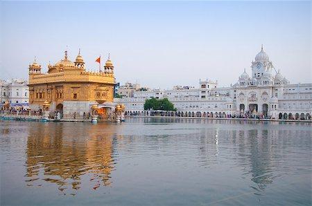 punjabi - Morning view at Golden Temple in Amritsar, Punjab, India. Stock Photo - Budget Royalty-Free & Subscription, Code: 400-07990366