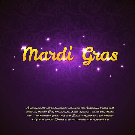 Vector illustration of Mardi Gras beauty background Stock Photo - Budget Royalty-Free & Subscription, Code: 400-08014115