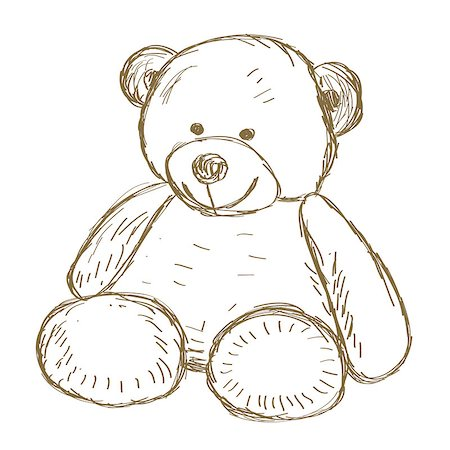 simsearch:400-04598294,k - Hand drawn Teddy bear doodle Vector illustration Stock Photo - Budget Royalty-Free & Subscription, Code: 400-08013243