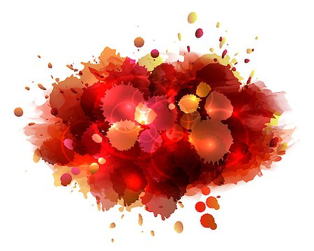 paint dripping graphic - Abstract artistic background of red paint splashes. Vector illustration Stock Photo - Budget Royalty-Free & Subscription, Code: 400-08013971