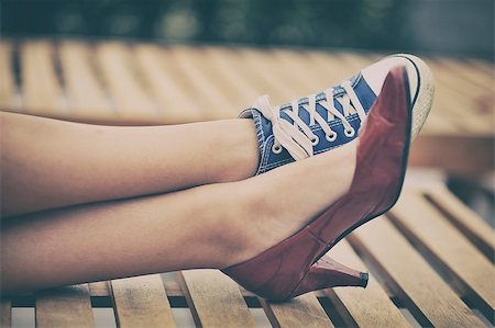 foot model - Woman legs in different shoes Stock Photo - Budget Royalty-Free & Subscription, Code: 400-08034839