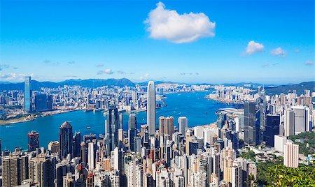 hong kong city at day Stock Photo - Budget Royalty-Free & Subscription, Code: 400-08038614