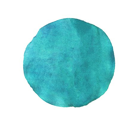 Blue circle watercolor texture paint isolated. Closeup Stock Photo - Budget Royalty-Free & Subscription, Code: 400-08039800