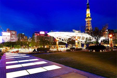 Nagoya, Japan skyline at Nagoya Tower. Stock Photo - Budget Royalty-Free & Subscription, Code: 400-08032321
