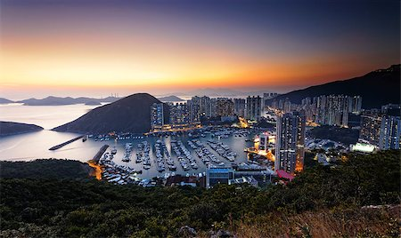 Typhoon Shelters in hong kong aberdeen Stock Photo - Budget Royalty-Free & Subscription, Code: 400-08033834