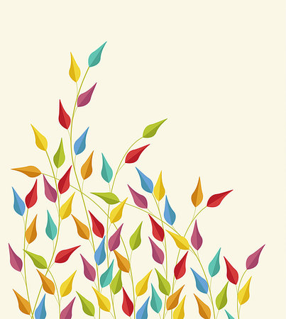 seamless - Coloured leaves vector illustration Stock Photo - Budget Royalty-Free & Subscription, Code: 400-08044396