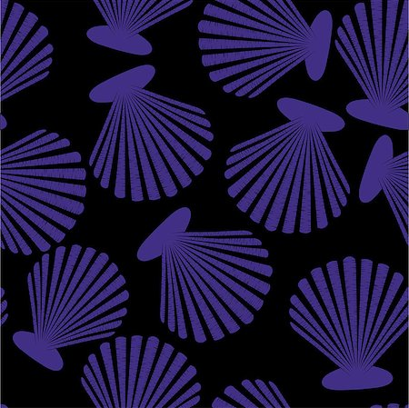 svetap (artist) - Shells seamless pattern. Vector seashells design Stock Photo - Budget Royalty-Free & Subscription, Code: 400-08044544
