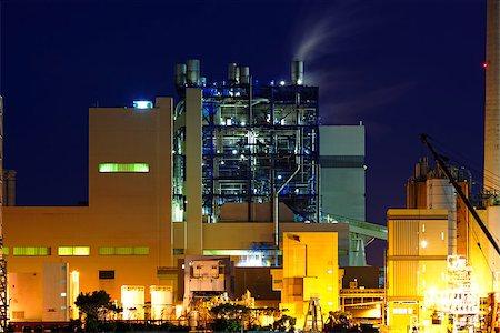 power station at night with smoke , hong kong Stock Photo - Budget Royalty-Free & Subscription, Code: 400-08045879
