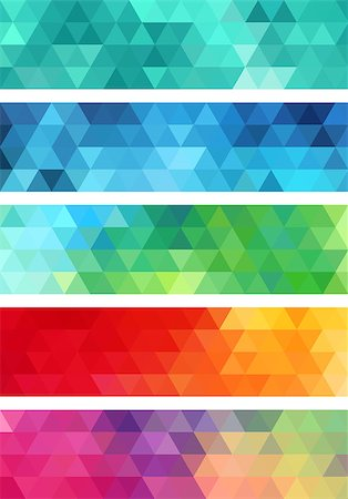 abstract geometric banner, set of vector design elements Stock Photo - Budget Royalty-Free & Subscription, Code: 400-08046343