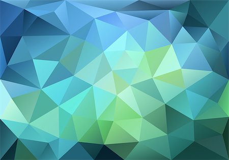 abstract blue and green low poly background, vector design element Stock Photo - Budget Royalty-Free & Subscription, Code: 400-08047339