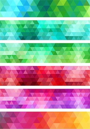 abstract colorful geometric banner, set of vector design elements Stock Photo - Budget Royalty-Free & Subscription, Code: 400-08047340