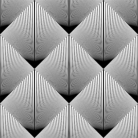 simsearch:400-04476890,k - Design seamless diamond geometric pattern. Abstract monochrome lines background. Vector art. No gradient Stock Photo - Budget Royalty-Free & Subscription, Code: 400-08047470