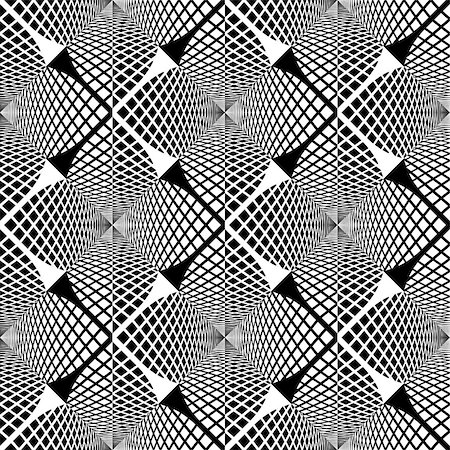 simsearch:400-04476890,k - Design seamless monochrome geometric pattern. Abstract textured background. Vector art. No gradient Stock Photo - Budget Royalty-Free & Subscription, Code: 400-08047471