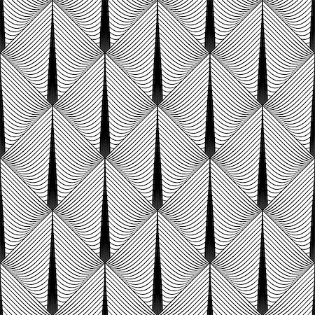 simsearch:400-04476890,k - Design seamless diamond geometric pattern. Abstract monochrome lines background. Vector art. No gradient Stock Photo - Budget Royalty-Free & Subscription, Code: 400-08047489