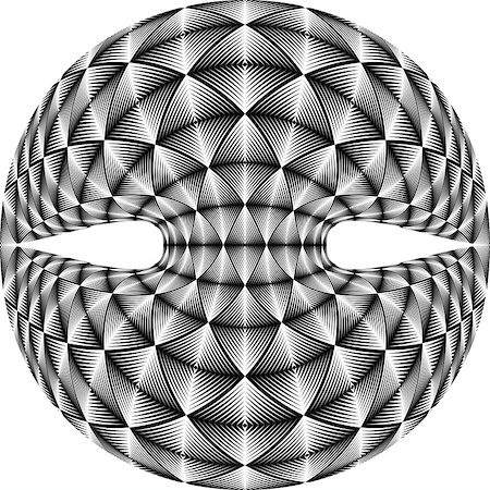 simsearch:400-04476890,k - Design warped diamond trellised backdrop. Abstract geometric monochrome element. Vector art. No gradient Stock Photo - Budget Royalty-Free & Subscription, Code: 400-08047490