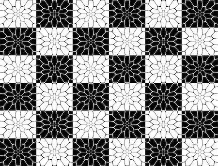 simsearch:400-04476890,k - Design seamless monochrome polygon geometric pattern. Abstract simple background. Vector art Stock Photo - Budget Royalty-Free & Subscription, Code: 400-08048811