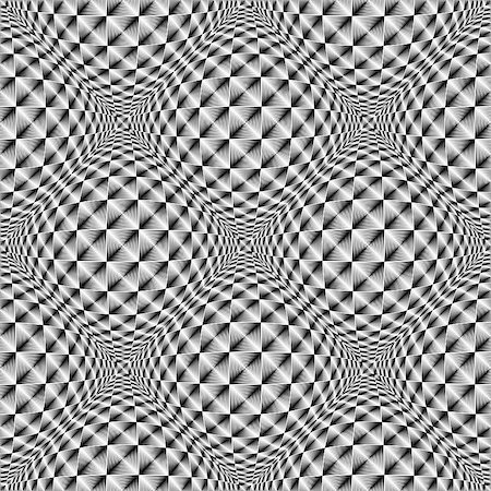 simsearch:400-04476890,k - Design seamless square volumetric pattern. Abstract geometric monochrome background. Vector art. No gradient Stock Photo - Budget Royalty-Free & Subscription, Code: 400-08048823