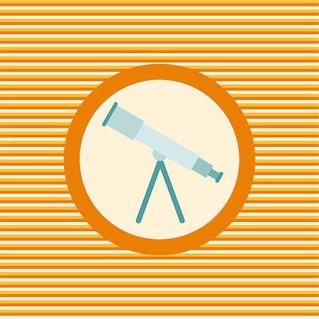 scope - Telescope color flat icon vector graphic illustration Stock Photo - Budget Royalty-Free & Subscription, Code: 400-08049775
