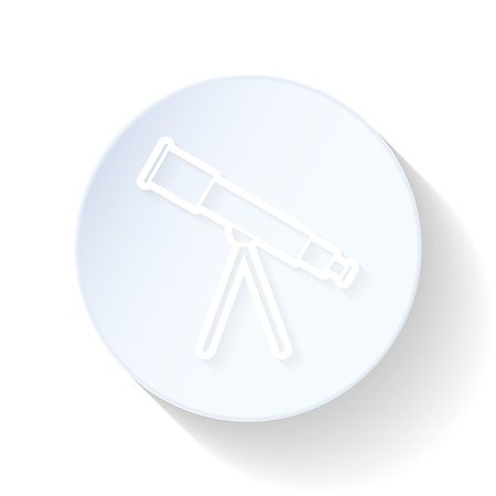 scope - Telescope thin lines icon vector graphic illustration Stock Photo - Budget Royalty-Free & Subscription, Code: 400-08049776