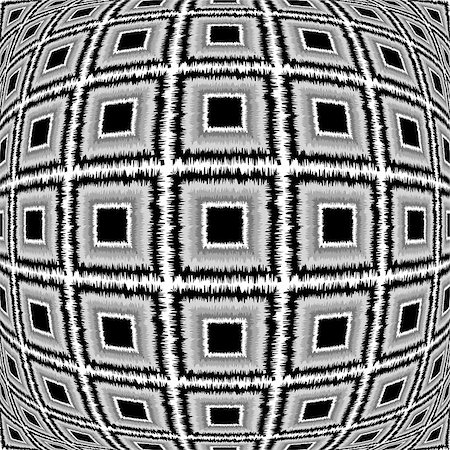 simsearch:400-04476890,k - Design warped monochrome checked pattern. Abstract textured background. Vector-art illustration. No gradient Stock Photo - Budget Royalty-Free & Subscription, Code: 400-08049996
