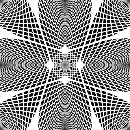 simsearch:400-04476890,k - Design monochrome grid geometric background. Abstract textured backdrop. Vector art. No gradient Stock Photo - Budget Royalty-Free & Subscription, Code: 400-08049990