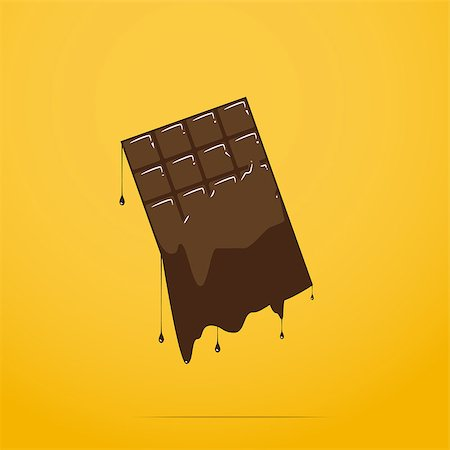dripping splat - melted chocolate bar Stock Photo - Budget Royalty-Free & Subscription, Code: 400-08040499