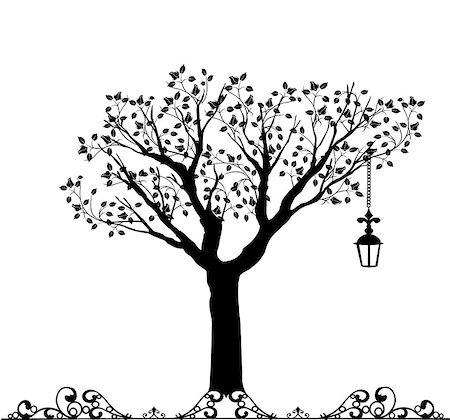 filigree tree - It is an illustration file EPS Stock Photo - Budget Royalty-Free & Subscription, Code: 400-08042434