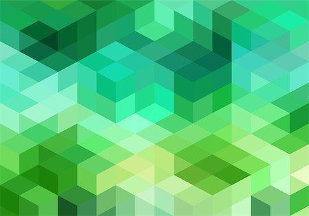 abstract green blue geometric vector background, cube pattern Stock Photo - Budget Royalty-Free & Subscription, Code: 400-08042564