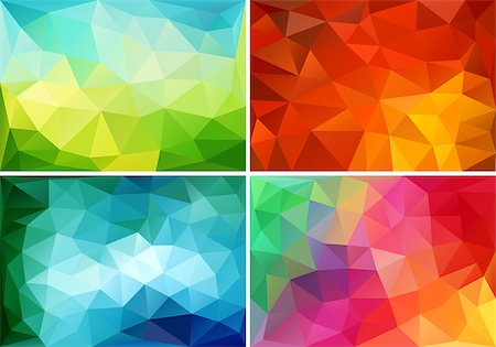 abstract colorful low poly backgrounds, set of vector design elements Stock Photo - Budget Royalty-Free & Subscription, Code: 400-08043362