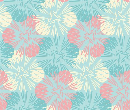seamless floral - seamless floral background. Vector abstract pattern with flower Stock Photo - Budget Royalty-Free & Subscription, Code: 400-08043399