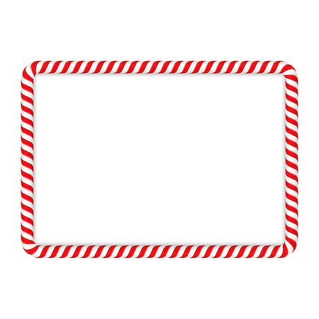 red stick candy - Frame made of candy cane, vector eps10 illustration Stock Photo - Budget Royalty-Free & Subscription, Code: 400-08043593