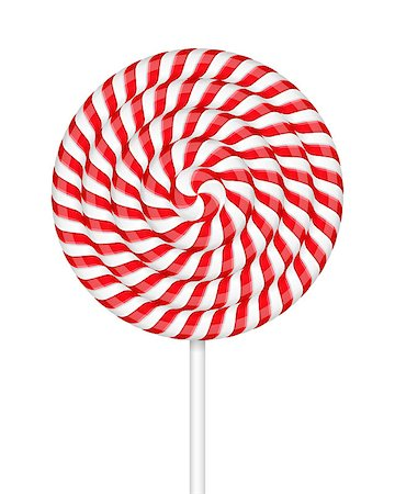 red circle lollipop - Red and white striped sweet candy, lollipop, vector eps10 illustration Stock Photo - Budget Royalty-Free & Subscription, Code: 400-08043600